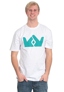 FRENDS Crown Logo S/S T-Shirt white/teal
