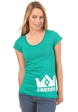FRENDS Logo S/S T-Shirt teal/white