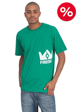 FRENDS Womens Logo S/S T-Shirt teal/white