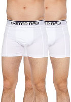 G-STAR 3301 Light Stretch Jersey Boxershorts Double Pack white