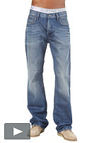 G-STAR 3301 Loose Pant azurr denim medium aged