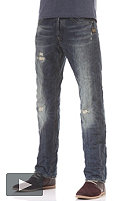 G-STAR Attacc Straight Jeans indigo denim rugby destroy