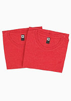 G-STAR Base Heather R T S/S T-Shirt Double Pack oil red