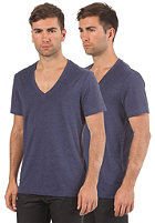 G-STAR Base Heather V T Double Pack S/S T-Shirt shade