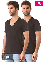 G-STAR Base Heather V T S/S T-Shirt Double Pack solid black