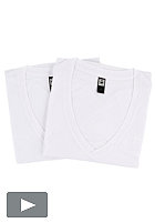 G-STAR Base Heather V T S/S T-Shirt Double Pack solid white