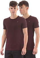 G-STAR Base R T S/S T-Shirt 2-Pack aubergine