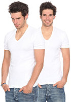 Base V Neck S/S T-Shirt Double Pack white