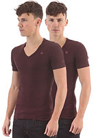 G-STAR Base V T 2-Pack S/S T-Shirt aubergine