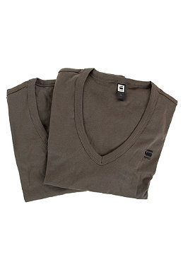 G-STAR Base V T Double Pack S/S T-Shirt battle grey