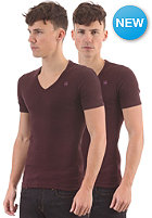 G-STAR Base V T S/S T-Shirt 2-Pack aubergine