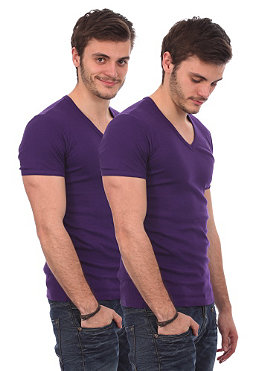 G-STAR Base V T S/S T-Shirt Double Pack purple