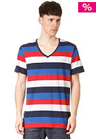 G-STAR Boulder Stripe Regular Deep V T S/S T-Shirt sapphire blue