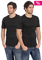 Double Pack Round Neck Premium 1 by 1 S/S T-Shirt black