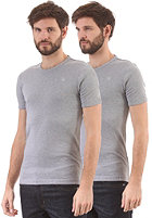 G-STAR Double Pack Round Neck Premium 1 by 1 S/S T-Shirt grey heather