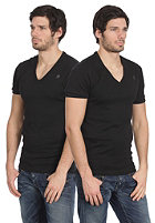 G-STAR Double Pack V-Neck Premium 1 by 1 S/S T-Shirt black