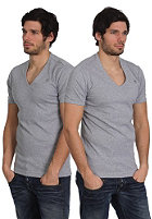G-STAR Double Pack V-Neck Premium 1 by 1 S/S T-Shirt grey