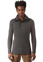 G-STAR Fibrick 1/2 Zip Knit Sweat premium cotton knit - night