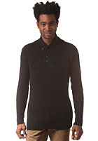 G-STAR Fibrick Shawl Collar Knit Sweat premium cotton knit - black