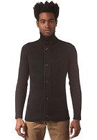G-STAR Fibrick Vest Cardigan premium cotton knit - black