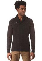 G-STAR Geored Shawl Collar Knit Sweat premium cotton knit - black