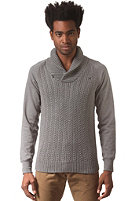 G-STAR Geored Shawl Collar Knit Sweat premium cotton knit - castor htr