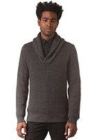 G-STAR Gralvent Shawl Collar Knit Sweat tone cotton knit - raven