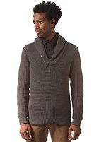 G-STAR Gralvent Shawl Collar Knit Sweat tone cotton knit - raw grey