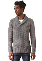 G-STAR Higging Shawl Collar Knit Sweat oxford cable knit - castor htr