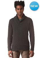 G-STAR Higging Shawl Collar L/S Knit Sweat oxford cable knit - black htr