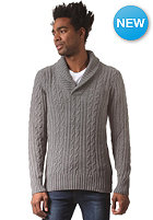 G-STAR Higging Shawl Collar L/S Knit Sweat oxford cable knit - castor htr