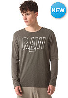 G-STAR Rackpal 1 Regular R T Longsleeve jisoe 1x1 rib - raw grey