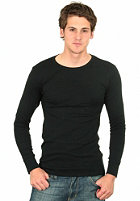 G-STAR Single Pack Premium 1 by 1 Round Neck Longsleeve black