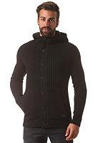 G-STAR Straptill Vest Hooded Cardigan prem cotton knit - black