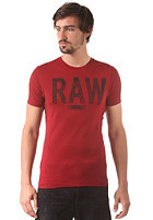 G-STAR Terrams S/S T-Shirt cool rib - chateaux red