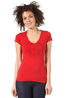 G-STAR Womens A Crotch V T S/S T-Shirt harvard red
