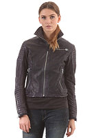 G-STAR Womens Biker Leather Jacket mazarine blue