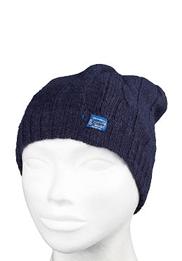 G-STAR Womens Charlie Beanie flora knit naval blue heather