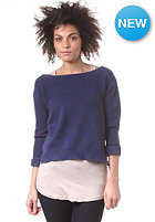 G-STAR Womens Hop R 3/4 Sleeve Knit Sweat imperial blue