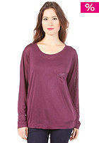 G-STAR Womens Loose L/S T-Shirt black currant