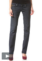 G-STAR Womens Midge Straight comfort dave Denim Pant dark vintage