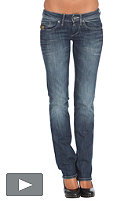 Womens Midge Straight Pant comfort station denim track wash