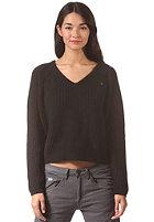 G-STAR Womens Neatch V L/S Knit Sweat prem cotton knit - black
