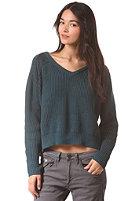 G-STAR Womens Neatch V L/S Knit Sweat prem cotton knit - midnight blue