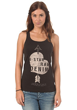 G-STAR Womens Stage R Tank Top lyon jersey black