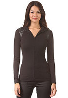 G-STAR Womens Us Slim Festun Vest Zip Longsleeve ultimate stretch jer - black
