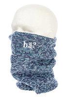 H�? Melange Neckwarmer blue