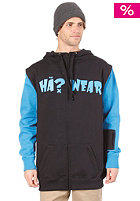 H�? Zipper Arms Hooded Sweat black