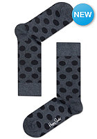 HAPPY SOCKS Socks Big Dot grey/black