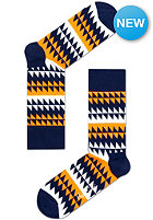 HAPPY SOCKS Socks Disrupted Stripe white/blue/orange